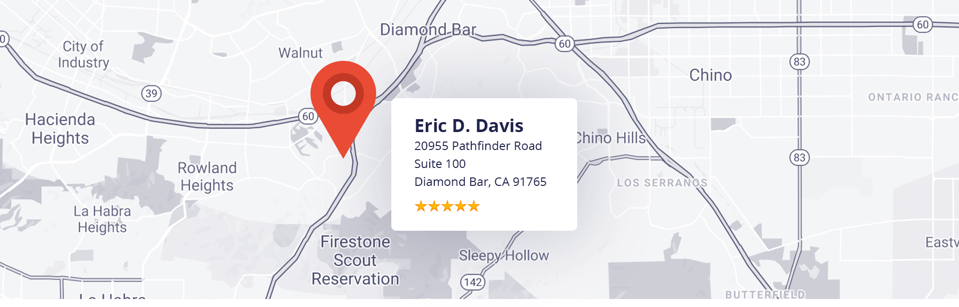 Eric D. Davis Map